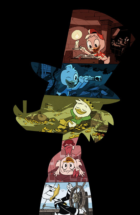 """DUCKTALES - Disney's """"DuckTales,"""" an all-new animated comedy series based on the Emmy Award-winning series, will again star Disney's enduringly popular characters: Scrooge McDuck, his grandnephews Huey, Dewey and Louie, and Donald Duck. Produced by Disney Television Animation, the series is set to debut in 2017 on Disney XD. (Disney XD)"""