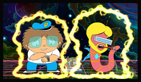 "FUTURE-WORM! - ""Future-Worm!,"" an animated comedy adventure series about an optimistic 12-year-old who creates a time machine lunch box, and then meets and befriends a fearless worm from the future (with titanium-enforced abs), premieres MONDAY, AUGUST 1 (11:00-11:30 A.M. EDT), on Disney XD. (Disney XD)"