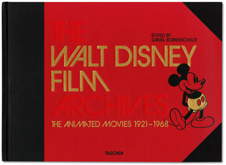 The Walt Disney Film Archives. The Animated Movies 1921–1968 Daniel Kothenschulte, John Lasseter, Russell Merritt, Charles Solomon, Dr. Robin Allan, Didier Ghez, J. B. Kaufman, Katja Lüthge, Brian Sibley, Leonard Maltin Hardcover, quarter-bound, 16.2 x 11.8 in., 620 pages